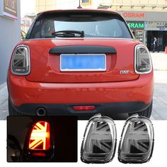 Mini Cooper Accessories, Left And Right, Led Tail Lights, Union Jack, Save Energy, Abs, Grey, Fitness, Gray