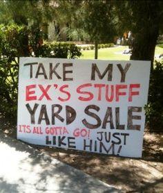 Garage sale signs (5)