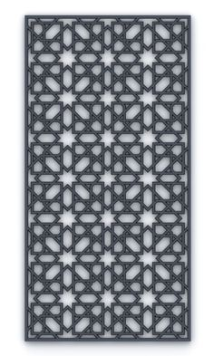 Gray against mother of pearl to give the effect of a black pearl Laser Cut Screens, Laser Cut Panels, Corte Plasma, Jaali Design, Cnc Cutting Design, Arabic Pattern, Arabic Design, Islamic Patterns, Decorative Screens