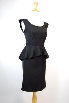 The Sabine 1940's Peplum Dress