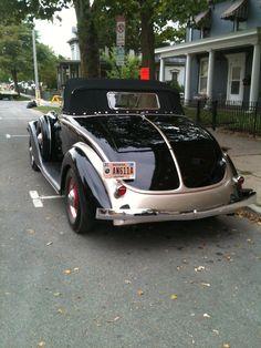 From car show in Auburn In. Black beauty.