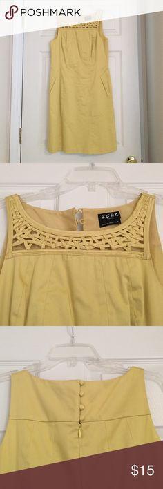 Yellow Short Dress BCBG Paris Yellow Dress. Only worn once, gently. Cute spring and summer dress. BCBG Dresses Midi