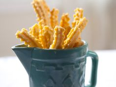 Cheese Straws from FoodNetwork.com...these go great with tomatoe soup or just as a snack..enjoy