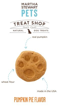 #MarthaStewartPets Treat Shop #AmericanMade natural dog biscuits contain a simple list of natural ingredients - like real pumpkin - and they come in crunchy, bite-sized portions that are great for training or as an anytime snack - Sold only @petsmartcorp