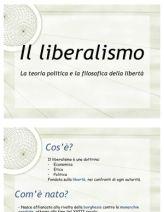 Presentazione in sei slides delle principali idee della teoria liberale nella prima metà del XIX secolo, fu il principale bersaglio delle critiche di Mazzini sull'individualismo della Società e dello Stato.