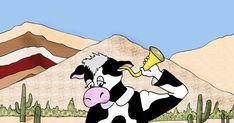 """Se trata de un trabajo por encargo: la propuesta era ilustrar la canción """"La vaca estudiosa"""", de María Elena Walsh. Las láminas serán utili... Proposal, Cow, Short Stories"""