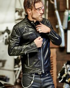 """950 Likes, 14 Comments - Herencia Custom Garage (@herenciacustomgarage) on Instagram: """"Shop the look - Leather x Leather"""""""