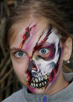 Cool Skull face painting.
