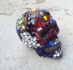 Custom Made Sugar Skull Made to Order Day by PiecesofhomeMosaics, $400.00
