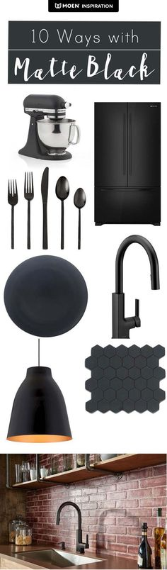 Jamie Lott shares 10 ways to make the most of matte black in your home, starting with this stunning mood board. Click to read more.