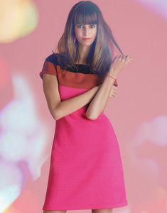 modèle de robe tricolore femme facile à tricoter
