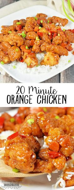 If your family loves Orange Chicken, you will love this quick and easy shortcut Orange Chicken recipe that you can have on the table in about 20 minutes!: