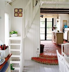 Pretty compact stairs that go up to the loft