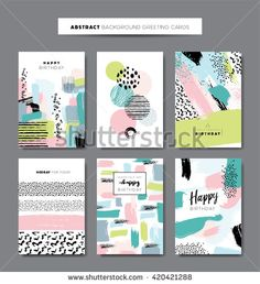 Find Set Artistic Background Greeting Cards stock images in HD and millions of other royalty-free stock photos, illustrations and vectors in the Shutterstock collection. Book Cover Design, Book Design, Layout Design, Design Art, Web Design, Graphic Design, Pattern Art, Print Patterns, Pattern Design