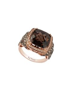 You need to see this Le Vian 14K Rose Gold 6.90 ct. tw. White & Chocolate Diamond & Smoky Quartz Ring on Rue La La.  Get in and shop (quickly!): https://www.ruelala.com/boutique/product/103564/34171149?inv=bailey-brown&aid=6191