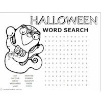 halloween word puzzles kids craft site also has for other seasonsholidays - Halloween Word Searches For Kids