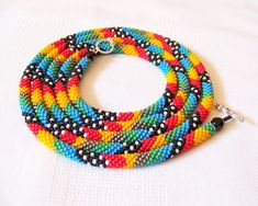 Sparkly Blue Green and Silver Crocheted Beaded Bracelets Set,Seed Beads,Nepal,