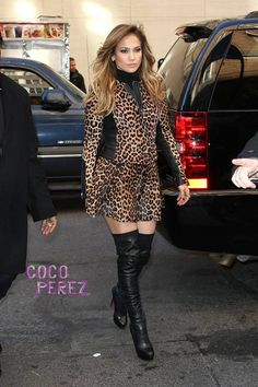 497593dbd2e Jennifer Lopez looked hot in ALC and Christian Louboutin boots in NYC.  Italian Chic