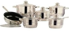 CONCORD 12 PC 5-Layered Bottom 18/10 Stainless Steel Cookware Set Pot Pan Saute ** Click image for more details.