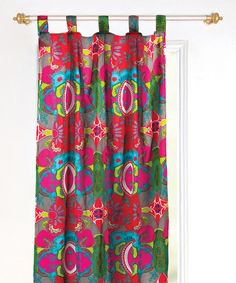 Look at this Pink Karmaleaf Curtain Panel on #zulily today!