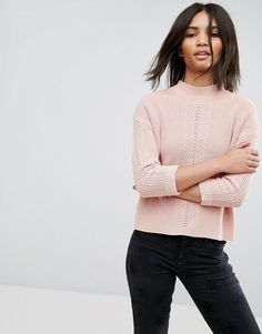 Esprit High Neck Sweater - Pink