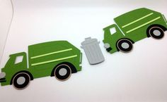 Garbage/Recycle Truck Birthday Party Printable Invitation ...