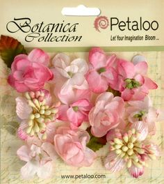 Small soft Pink flowers Botanica Mini Petitie 1 by isakayboutique