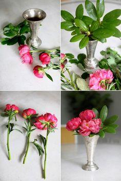 Creative DIY Flower Arrangements / DIY Peonies Arrangement