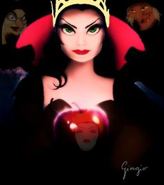 Evil Queens - ya see?  I wuz right!  The queens of Snow White and Enchanted really ARE the same woman!
