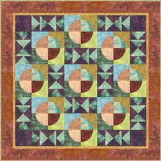 circles, squares, quilt