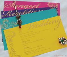 ***** ooh love these.****** New & Innovative Trends in Indian Wedding Cards