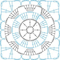 Granny Square patterns - Simply Crochet Learn to Crochet – Crochet Wave Fan Edging. How I made this wave fan edging border stitch. Motifs Granny Square, Crochet Motifs, Granny Square Crochet Pattern, Crochet Blocks, Crochet Diagram, Crochet Chart, Crochet Squares, Crochet Stitches, Crochet Patterns