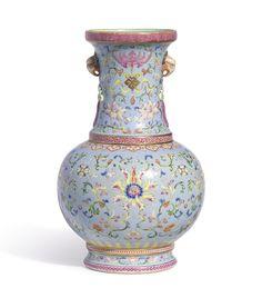 Lotus vase, Qianlong period