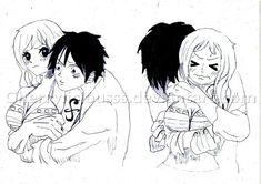 Luffy e Nami - One Piece One Piece Nami, One Piece Ship, Luffy X Nami, Anime One, Anime Stuff, One Piece Fanart, 0ne Piece, Youre Mine, The Masterpiece