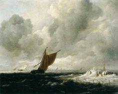 Artist  Jacob Isaacksz. van Ruisdael (1628/1629–1682)   Title  Stormy Sea with Sailing Boats    Date  c. 1668  Medium  oil on canvas