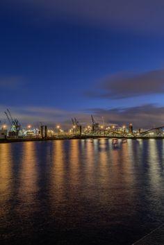 Hamburg Foto Hafen blaue Stunde | Bildschönes Hamburg