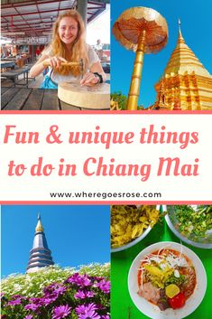 Don't miss these fun and unique things to do including sightseeing, eating, shopping and more! Thailand Travel, Asia Travel, Solo Travel, Travel Tips, Doi Inthanon National Park, Burmese Food, Stuff To Do, Things To Do, Food Stands