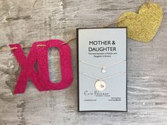 mother daughter necklace set mom daughter jewelry mother of the bride gift mom