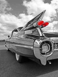 1959 Cadillac Tail Fins Print by Gill Billington. All prints are professionally printed, packaged, and shipped within 3 - 4 business days. Choose from multiple sizes and hundreds of frame and mat options. Retro Cars, Vintage Cars, Antique Cars, 1959 Cadillac, Acura Nsx, Cadillac Eldorado, Nissan Gt, Foto Art, Volkswagen Bus