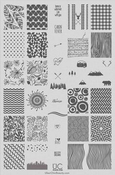Hot Off The Stamping Press: UberChic Beauty Nail Art Stamping Plates