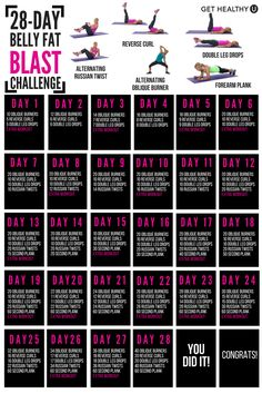 We've set up a FREE 28-day ab challenge to blast belly fat! Combine this challenge with your own strength and cardio workouts and you'll have flat abs in no time!