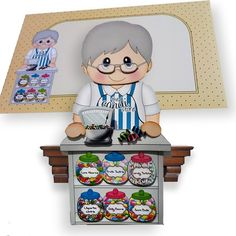3D on the Shelf Card Kit - Candi Shop Old Man Hubert - Photo by Clear Cut Crafts 3D Cards