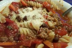 Olive garden pasta fagioli soup in a crock pot