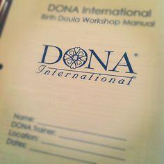 Doula training. #DONA #doula
