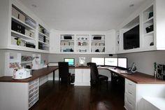 Home office - custom cabinets, etc | Houzz