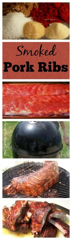 How to Smoke Pork Ribs | http://dinnerfromtheheart.com/smoked-pork-ribs/