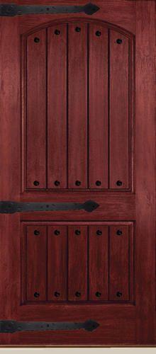Mastercraft 36 Prefinished Wood Grain Fiberglass 2 Pnl Arch Ext Door Slab