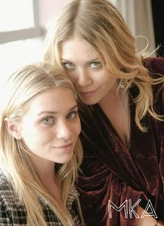 Mary-Kate and Ashley Olsen close-up. #style #fashion #beauty #olsentwins