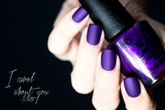 OPI I Carol About You MATTE.  Great nails for a purple graduation party