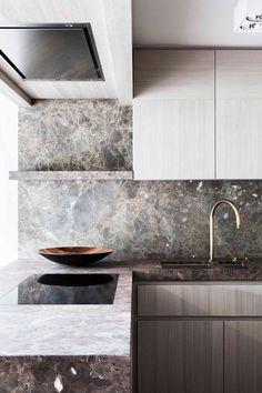 Keuken met natuursteen marmer